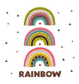 poster with wild tribal rainbows vector image vector image