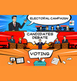 presidential election banner vector image