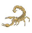 Scorpion isolated on white background vector | Price: 3 Credits (USD $3)