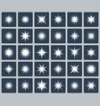 set various forms sparks vector image