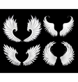 set white wings vector image vector image
