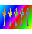 silhouette afro women colorful african woman vector image