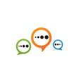 speech bubble icon logo template vector image vector image