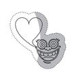 sticker contour face cartoon gesture with dialog vector image