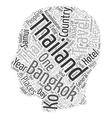 Thailand Heart Of Asia Holidays text background vector image vector image