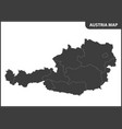 the detailed map of the austria with regions vector image vector image