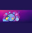 time management concept banner header vector image