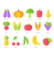 vegan brochure cards set vegetable vector image