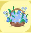 vintage floral bouquet garden flower vector image vector image