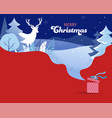 winter landscape background christmas banner vector image vector image