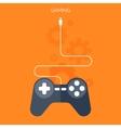 Flat joystick iconGaming background vector image