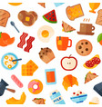 breakfast food healthy icons meal and vector image