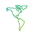 north and south america map communication network vector image