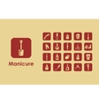 Set of manicure simple icons vector image