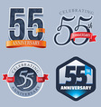 55 Years Anniversary Logo vector image vector image