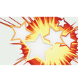 Abstract background of color star burst vector image