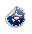 american star sticker vector image vector image