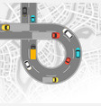 background with top view of road vector image vector image