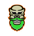 bearded skull or cranium mascot vector image vector image