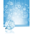 Blue christmas card with baubles EPS 8 vector image vector image