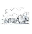 buildings sketch sketch line art berlin monochrome vector image