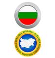 button as a symbol of Bulgaria vector image vector image