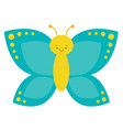 cartoon butterfly characters on a white vector image vector image
