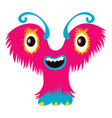 cartoon capital letter y from monster alphabet vector image vector image