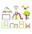 children playground kindergarten amusement vector image vector image