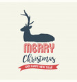 christmas text quote calligraphy deer vector image vector image
