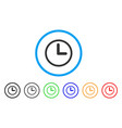 clock rounded icon vector image vector image