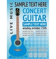 concert guitar vector image vector image
