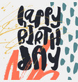 creative happy birthday card template vector image