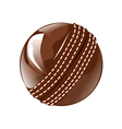 cricket ball vector image vector image