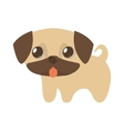 cute puppy little tongue out vector image vector image