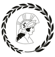 Decorative logo with the ancient Greek warrior vector image vector image