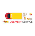 delivery truck scooter motorcycle service vector image vector image