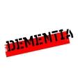 Dementia rubber stamp vector image