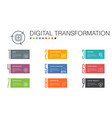 digital transformation infographic 10 option line vector image