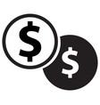 dollar coins icon vector image