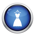 Elegant dress on shoulders icon vector image