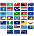 Flags of Australia and Oceania vector image vector image