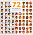 flat african american round avatars vector image