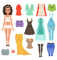 flat set of women s clothes items stylish vector image