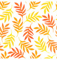 Floral seamless pattern with orange leaves on vector image
