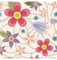 Flowers pattern vintage vector image vector image