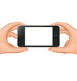 Hands Holding Phone Banner vector image vector image