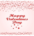 Happy Valentine s day card hearts vector image vector image