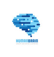 human brain - business logo template vector image vector image