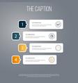 icon line diagram set of infographic pie bar vector image